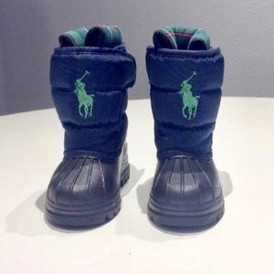 Other - Ralph Lauren Baby boy  Navy Snow boots 👢